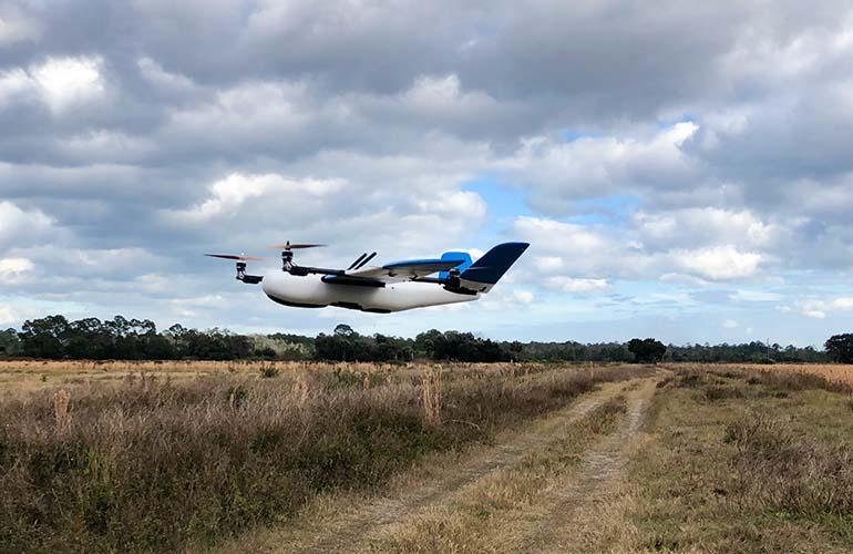 Sent Aero drone in the air